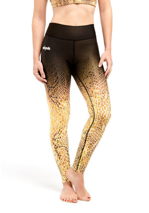 Compression Leggings - Yellow Reptil