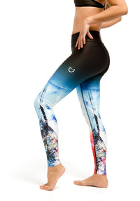 Compression Leggings - Abstract
