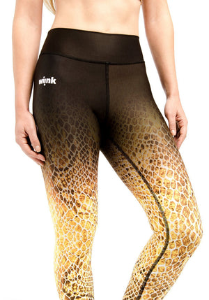 Compression Leggings - Yellow Reptil - wiinkbcn