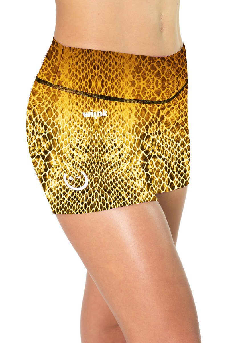 Yellow Reptil Shorts - wiinkbcn