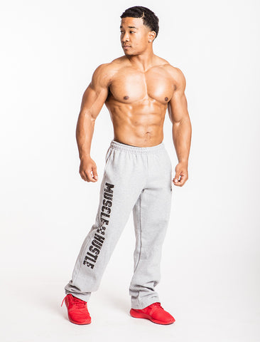 Classic Physique Muscle Hustle Pocketed Sweatpants - Grey