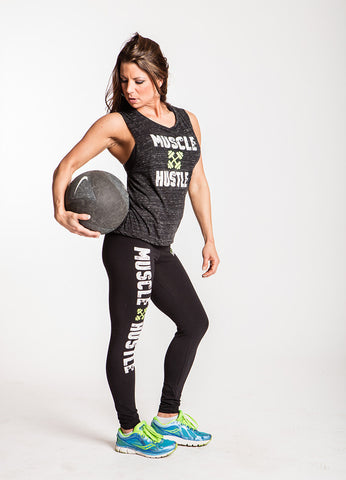 Classic Physique Muscle Hustle Leggings - Black