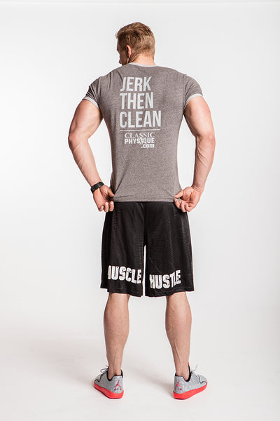 Classic Physique Muscle Hustle Shorts - Black