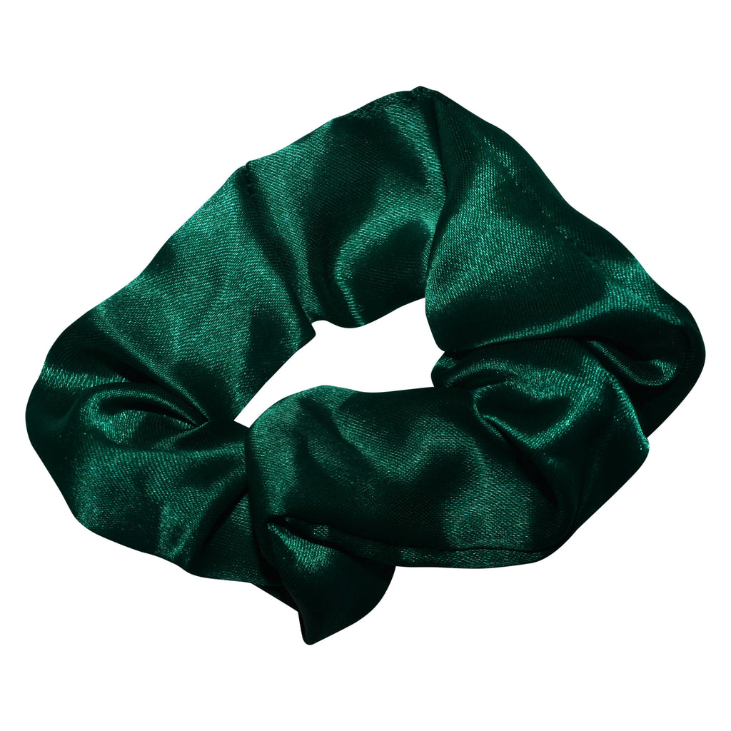 Green Satin Scrunchie
