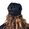 Black--ELASTIC BAND Satin Lined Cap