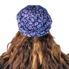 Blue Paisley --ELASTIC BAND Satin Lined Cap