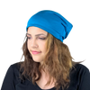 BAMBOO Ocean Blue--ADJUSTABLE DRAWSTRING Satin Lined Cap