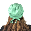 BAMBOO Jade Green--ADJUSTABLE DRAWSTRING Satin Lined Cap