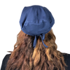Navy--ADJUSTABLE DRAWSTRING Satin Lined Cap