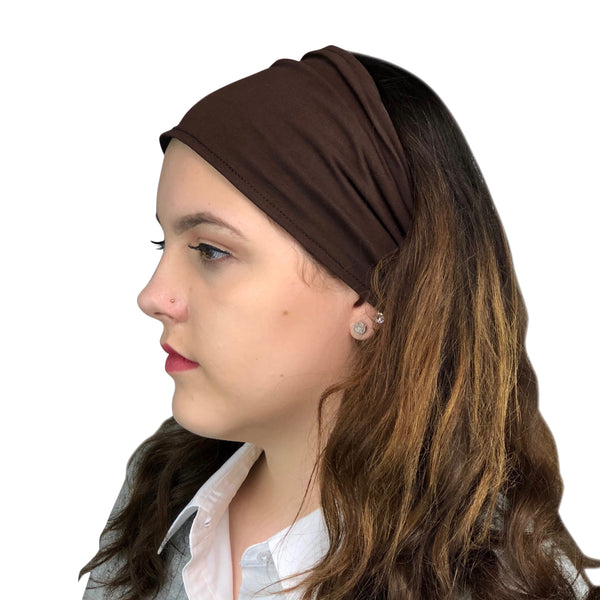 Satin Lined Headband-Chocolate