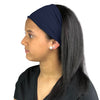 Satin Lined Headband-Navy