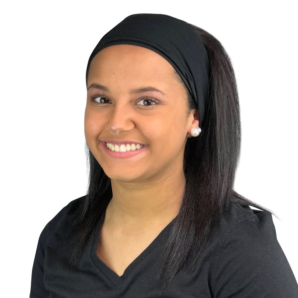 Satin Lined Headband-Black