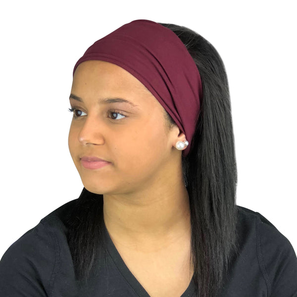 Satin Lined Headband-Burgundy