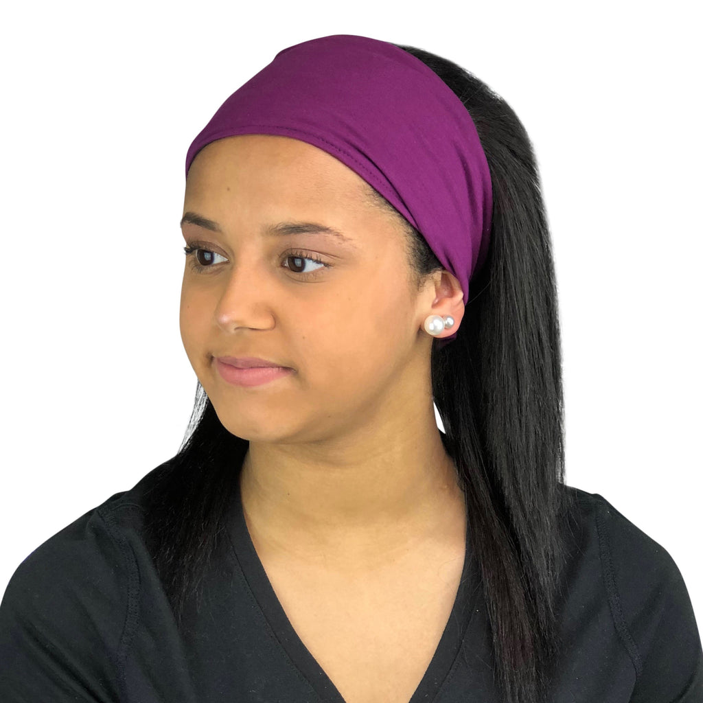 Satin Lined Headband-Purple