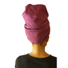 Purple - XL - Extra Long--ADJUSTABLE DRAWSTRING Satin Lined Cap