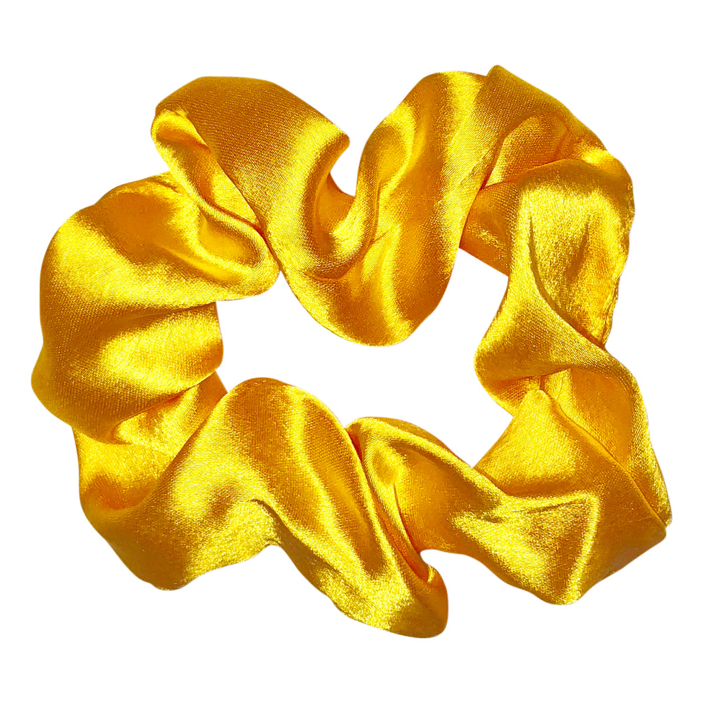 Golden Yellow Satin Scrunchie
