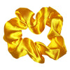 5 Pack Bundle Satin Scrunchie's--Golden YELLOW