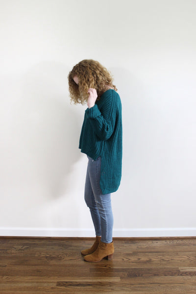 Chunky Knit Hi-Low Sweater