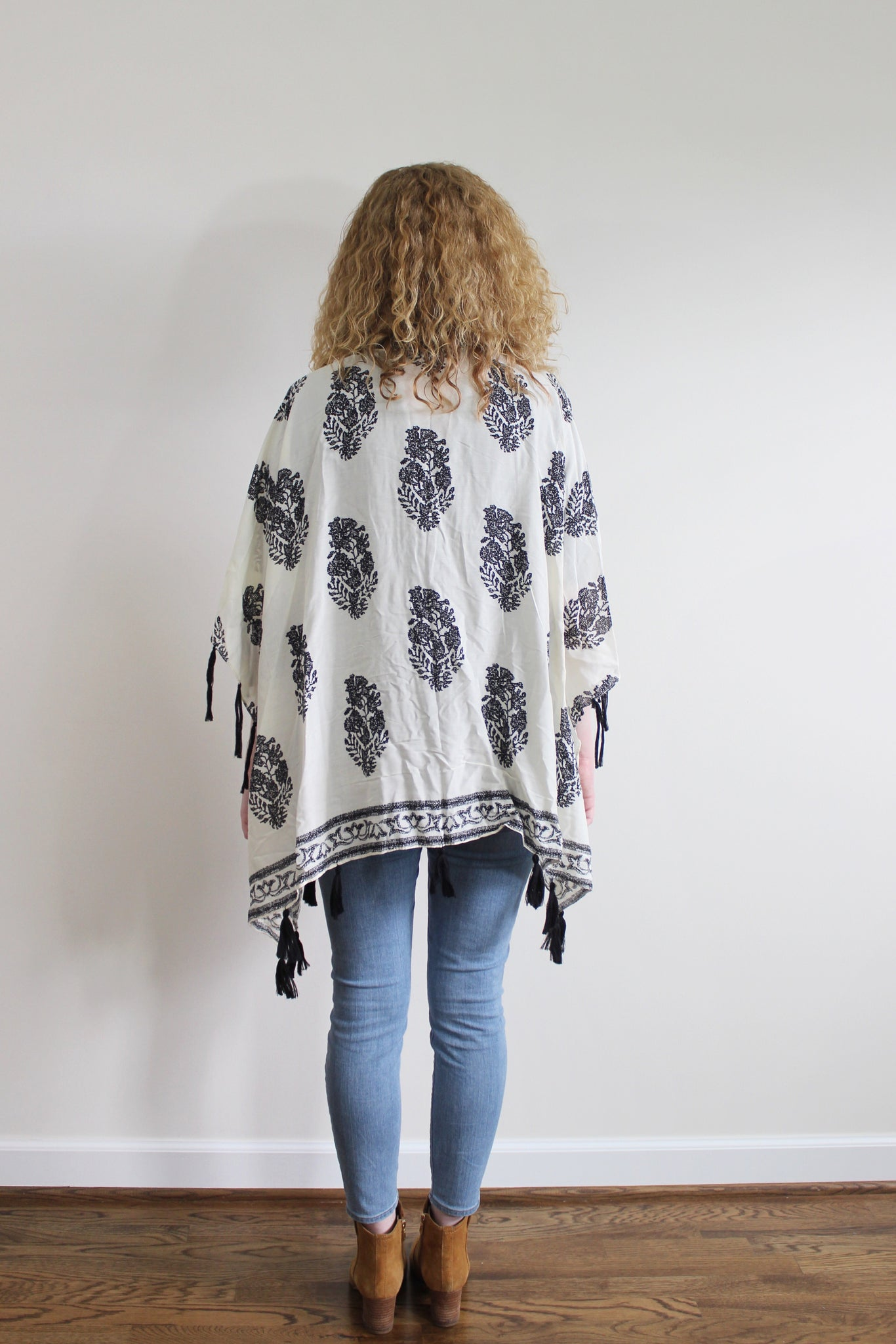Tassel Kimono - Red and Moon