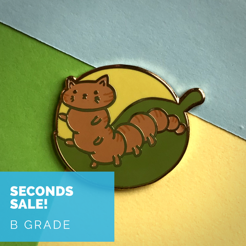 Seconds Sale - Caterpillar Pin - B GRADE