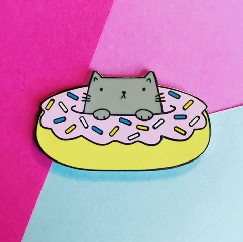 Donut Cat Hard Enamel Pin