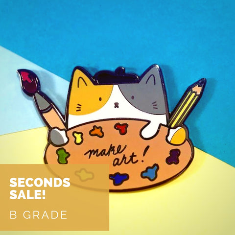 Seconds Sale - Make Art! Pin - B GRADE