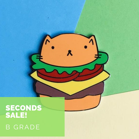 Seconds Sale - Cheeseburger Cat - B GRADE