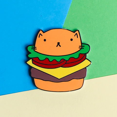 Cheeseburger Cat Enamel Pin