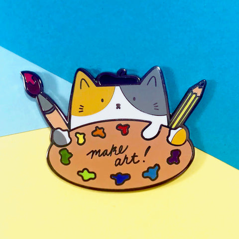 Make Art! Enamel Pin