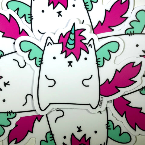 Unicat The Caticorn Vinyl Sticker