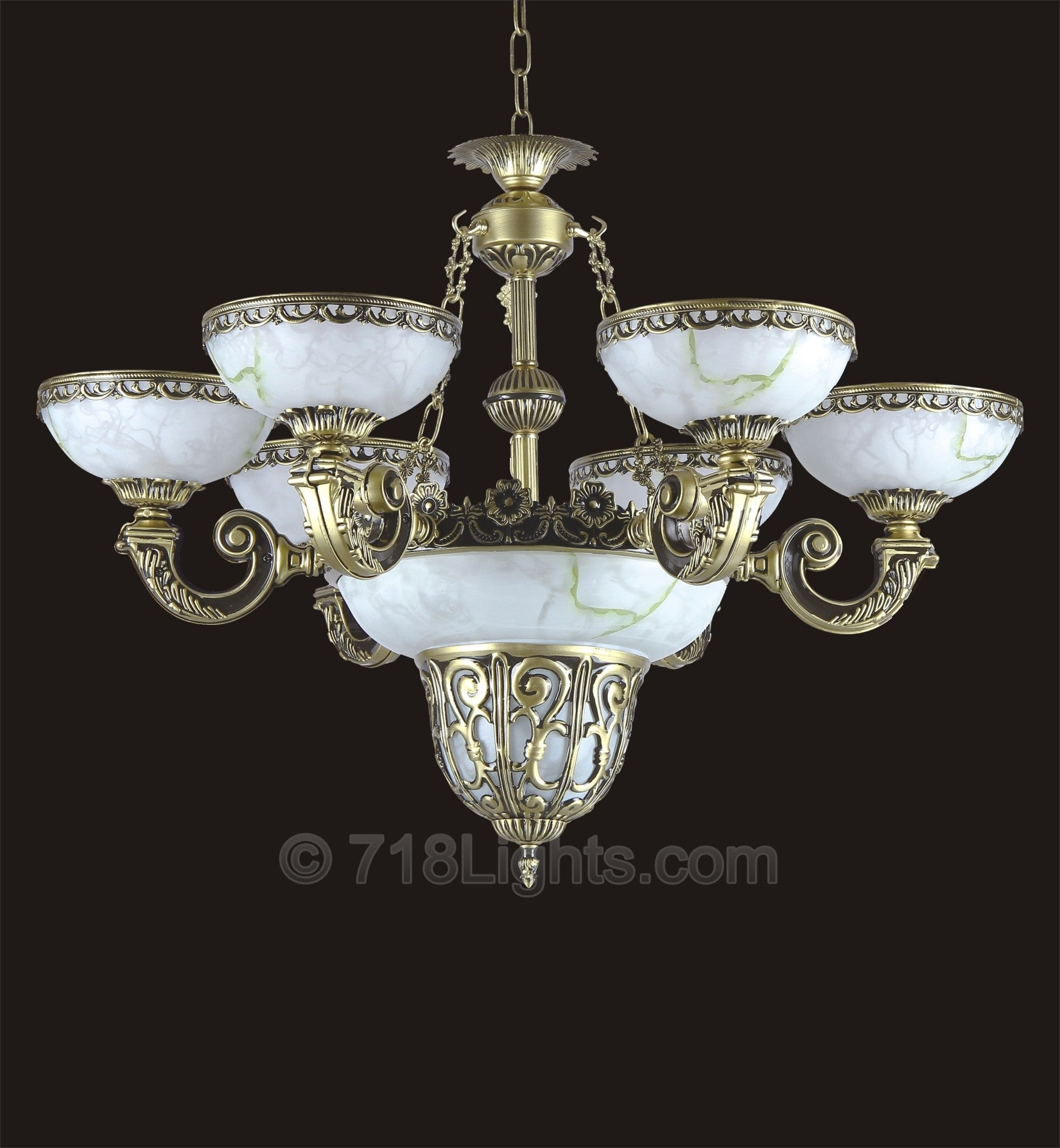 Alabaster Chandelier Brooklyn Collection