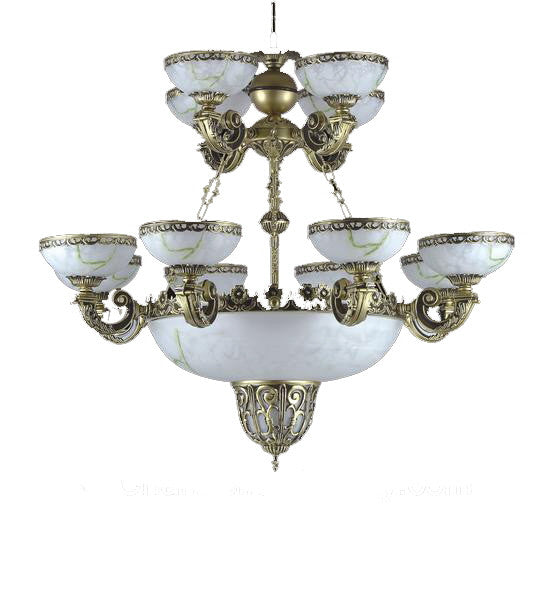 Classic Alabaster Chandelier<br> item #073 8+4+3 Light