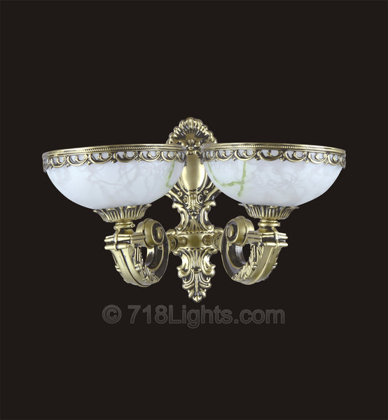 Alabaster Wall Sconce #073W 2-Light