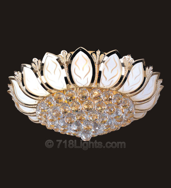 "Murano LED Chandelier #1102F 24"" x 10"""