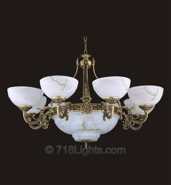 Alabaster Chandelier #232 8+3 Light
