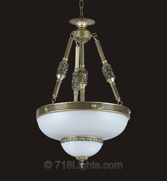 Alabaster chandelier brooklyn collection page 3 alabaster pendant item 239p 3 light 95 aloadofball Image collections