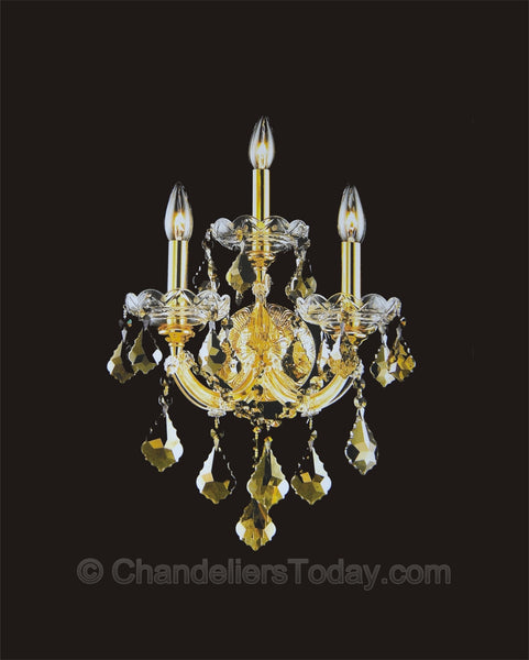 Maria Theresa Wall Sconce #4004-H 3-Light