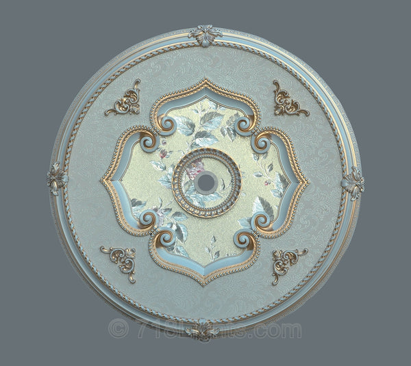Products / Round Ceiling Medallion #ROUND-F3-042