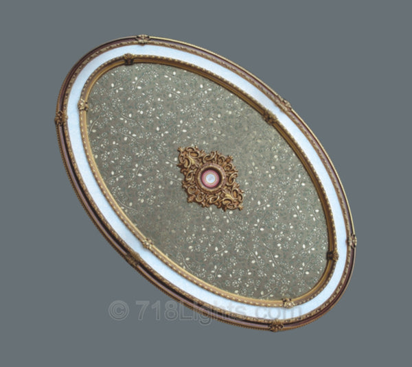 Oval Ceiling Medallion #OVAL9014-S-202  Title Description Body html Rich Text Editor