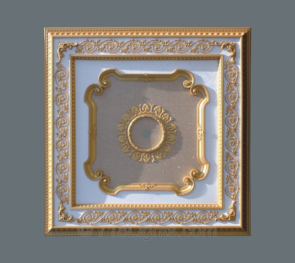 Square Ceiling Medallion #SQUARE-S-007