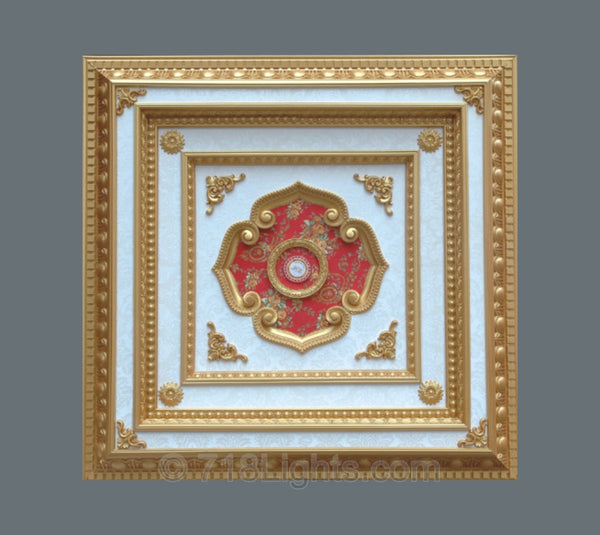 Square Ceiling Medallion #SQUARE-3S-217