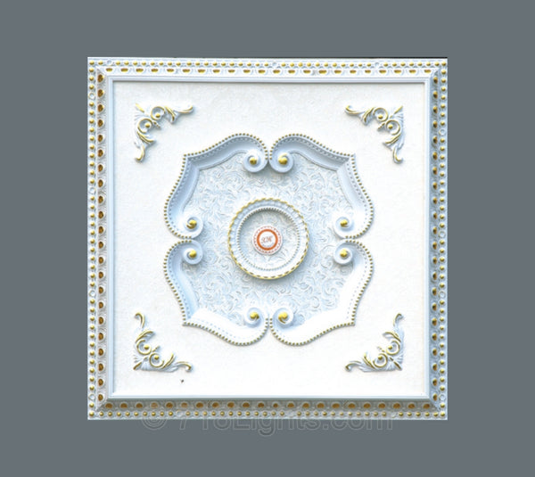 Square Ceiling Medallion #SQUARE-W-089