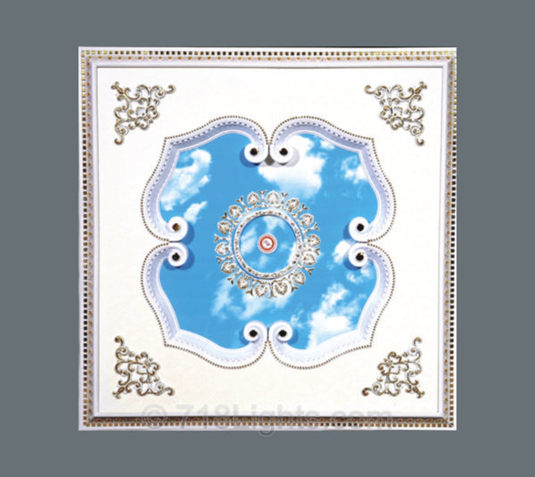 Square Ceiling Medallion #SQUARE-W-022