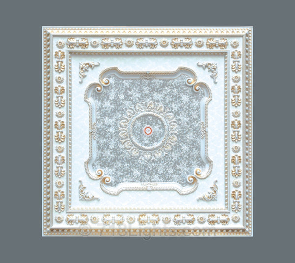 Square Ceiling Medallion #SQUARE-W-078