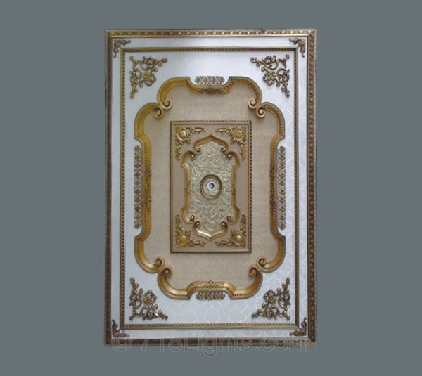 Rectangle Ceiling Medallion #RECTANGLE-4-S-020