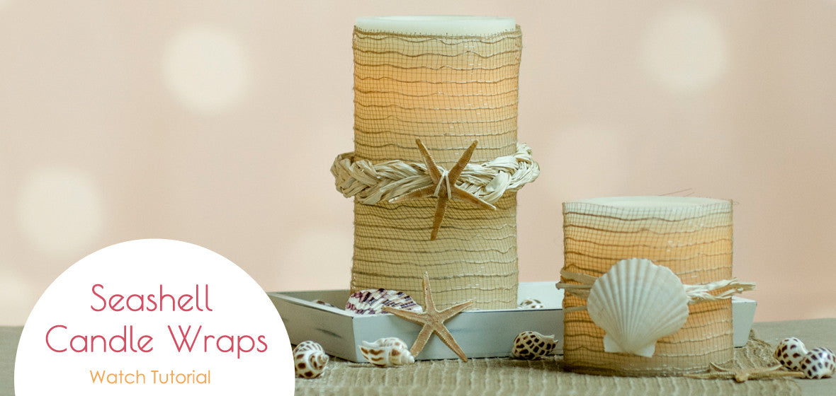 Seashell Candle Wraps Nautical Candle Impressions