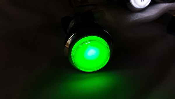 GREEN Chrome Led Lighted Button