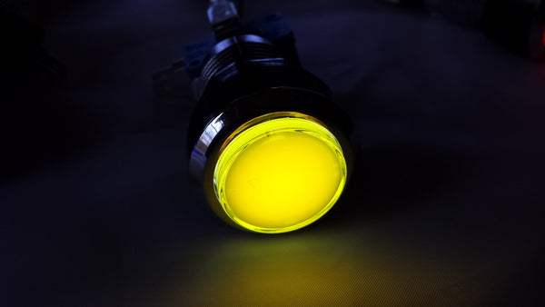 YELLOW Chrome Led Lighted Button