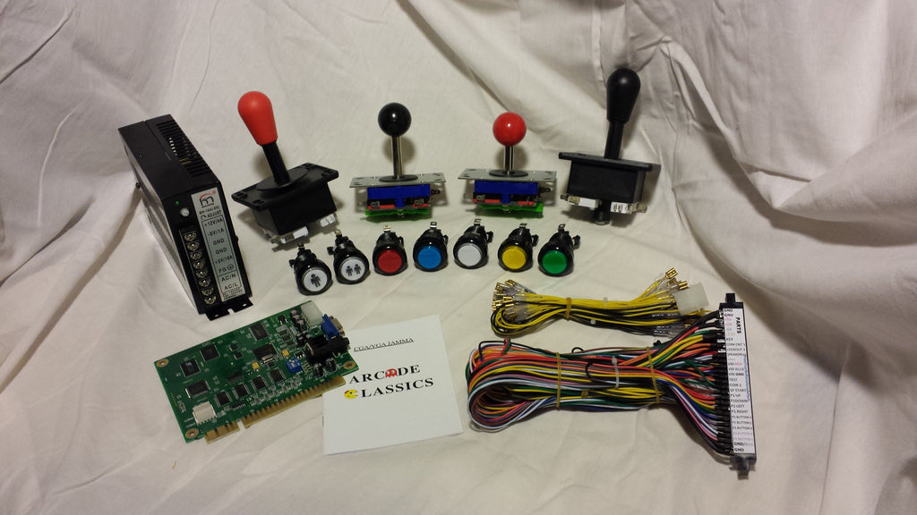 60 in 1 Jamma Vertical Game Board Complete Kit - Non lighted buttons
