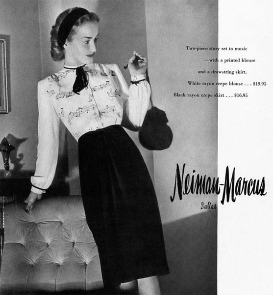 1940s fashion, fashion history, American Look, Neiman Marcus